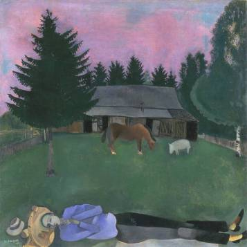The Poet Reclining 1915 by Marc Chagall 1887-1985
